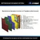 Вертикальная фасадная система под керамогранит